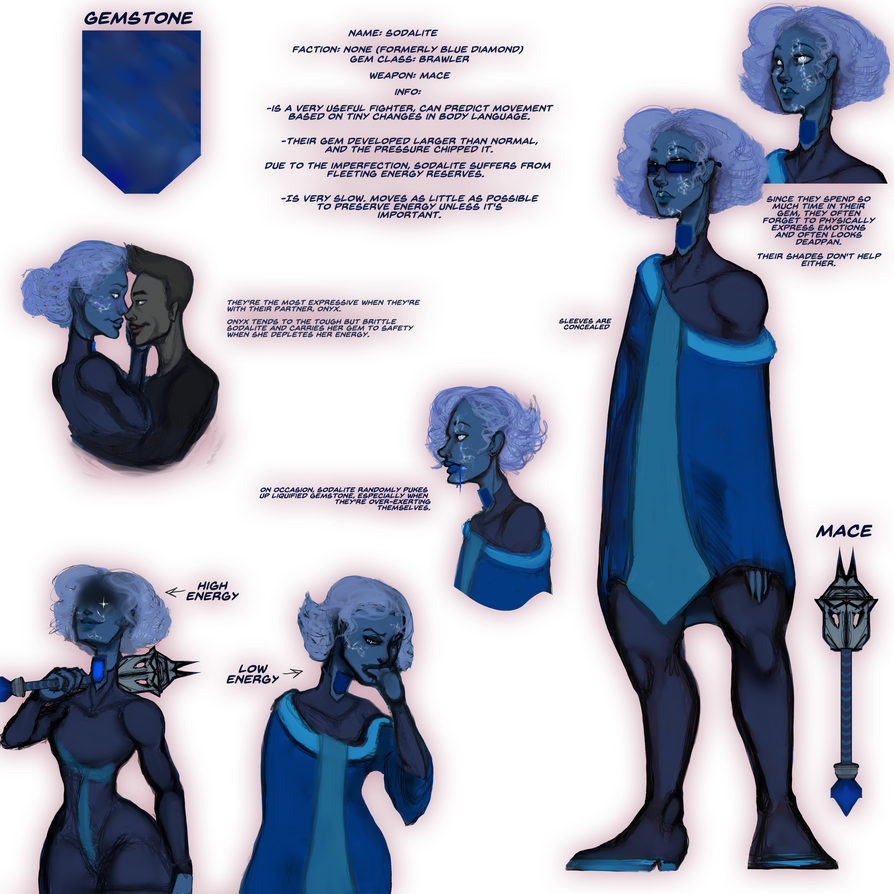 Sodalite reference sheet by Nefepants