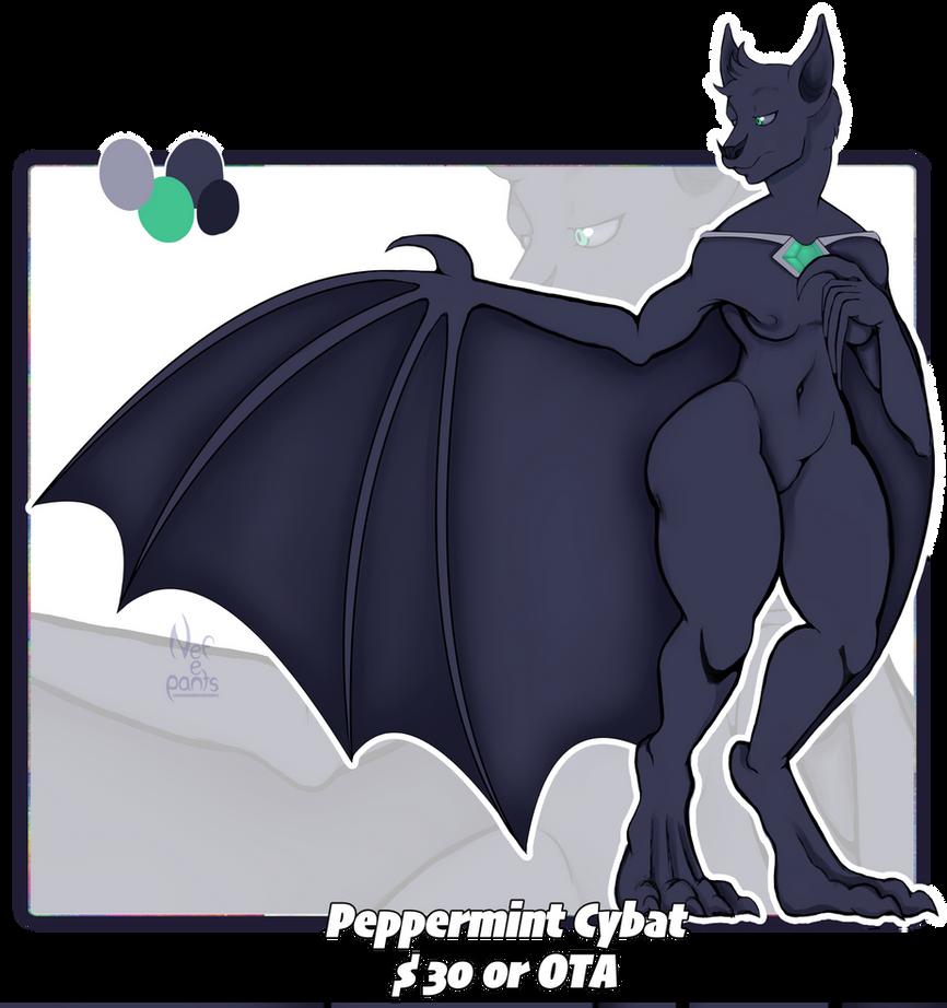 Adopt #3: Peppermint cybat (OPEN) by Nefepants