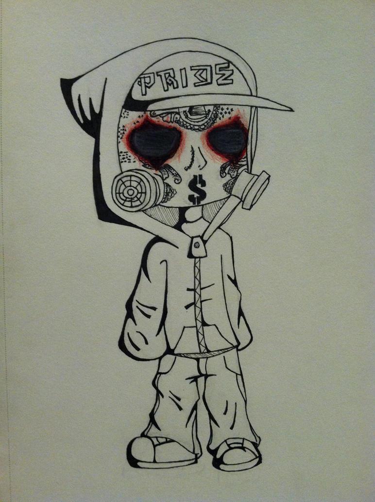 Hollywood Undead J Dog Mask 2013 J-Dog by Allegra-chan