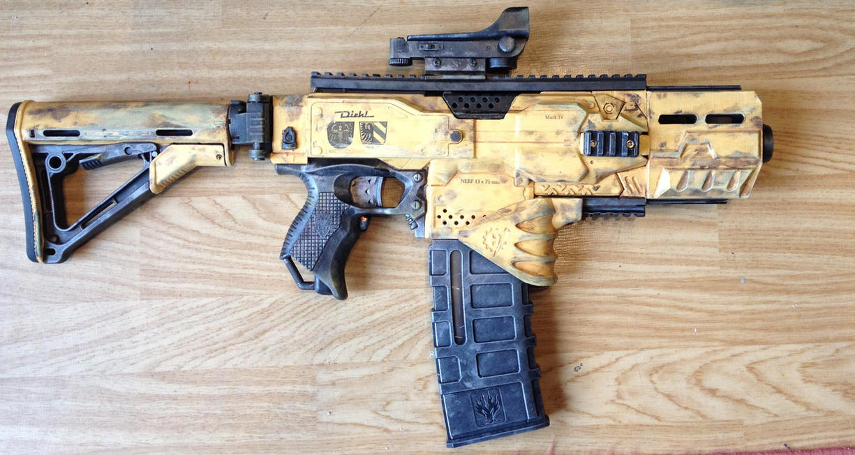 Go crazy with a custom modded nerf gun