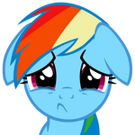 Rainbow Dash sadface by Iks83