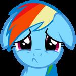 Rainbow Dash sadface by Iks83