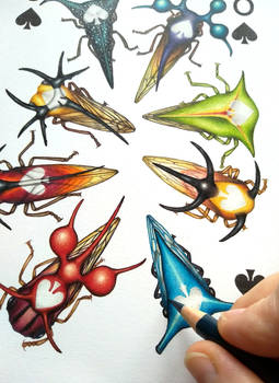 WIP from Insecta Deck 8 of Spades