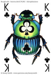 King of Clubs - Insecta Deck