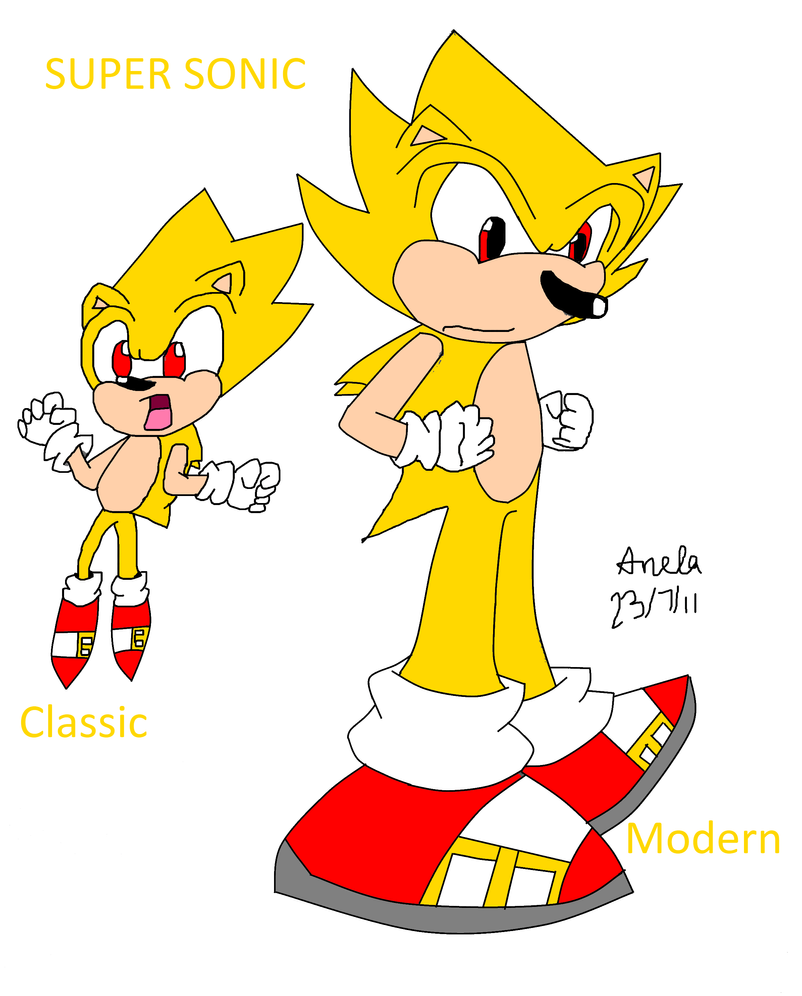 classic - Classic Super Sonic Coloring Pages