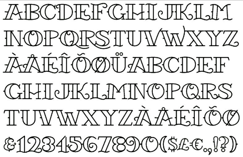 Tattoo font 3 by starvire