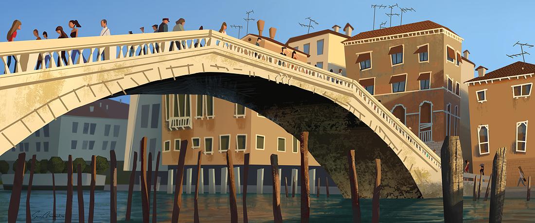Venice Bridge by erwinsart