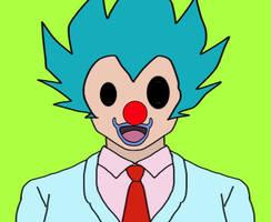 Creepy Clowny Saiyan Businessman
