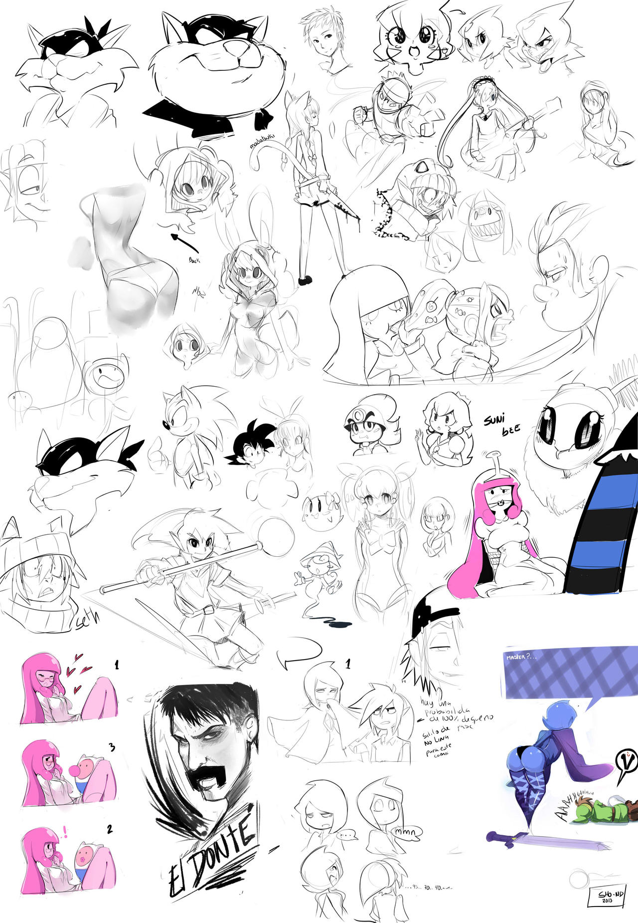 Fanarts doodles by sho-N-D