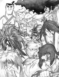 Samurai 7 + 1 by E-Nomad