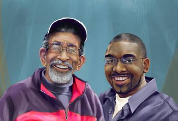 Father-Son Birthday Portrait