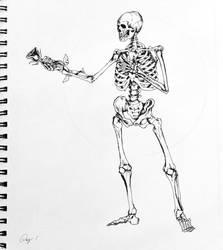 Inktober 2018 - Skeleton - 1 by E-Nomad