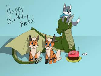 Happy Birthday Neko! by RobinHoude