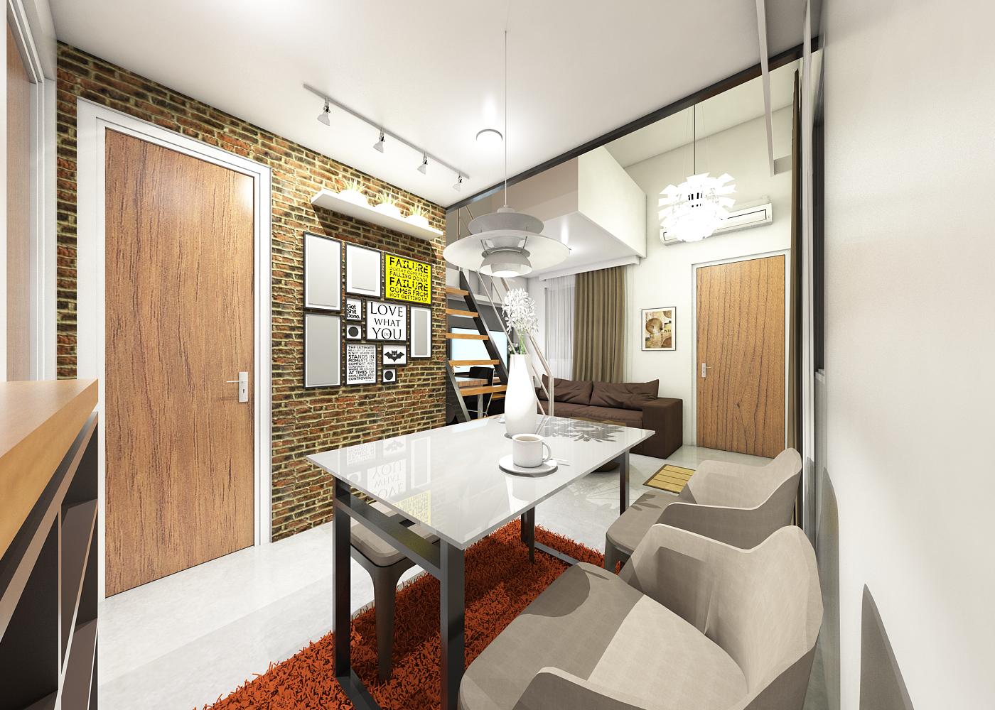 Proposed Loft Type Row House Interior Design By Darwinmerispe On Deviantart