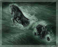 Kelpies by howlinghorse
