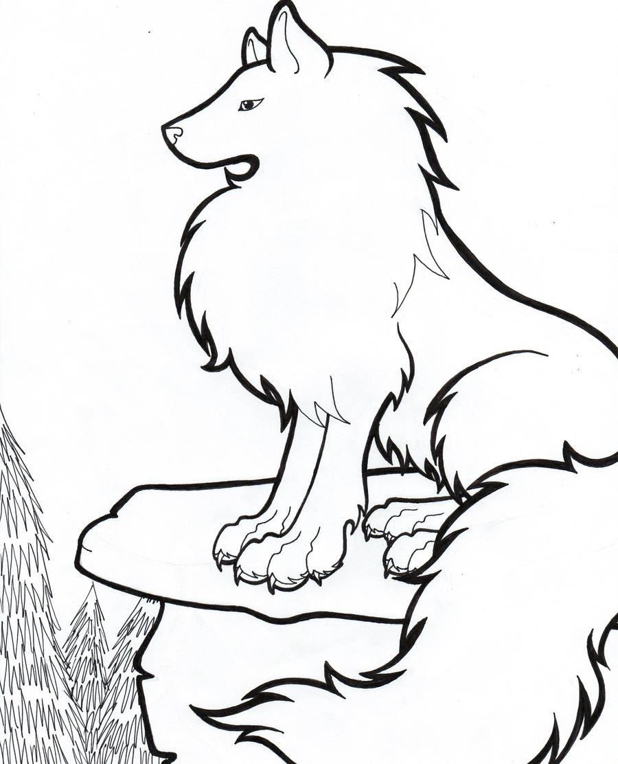 wolf pack drawing outline free here