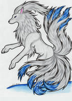 Ninetales-38 by ArticWolfSpirit
