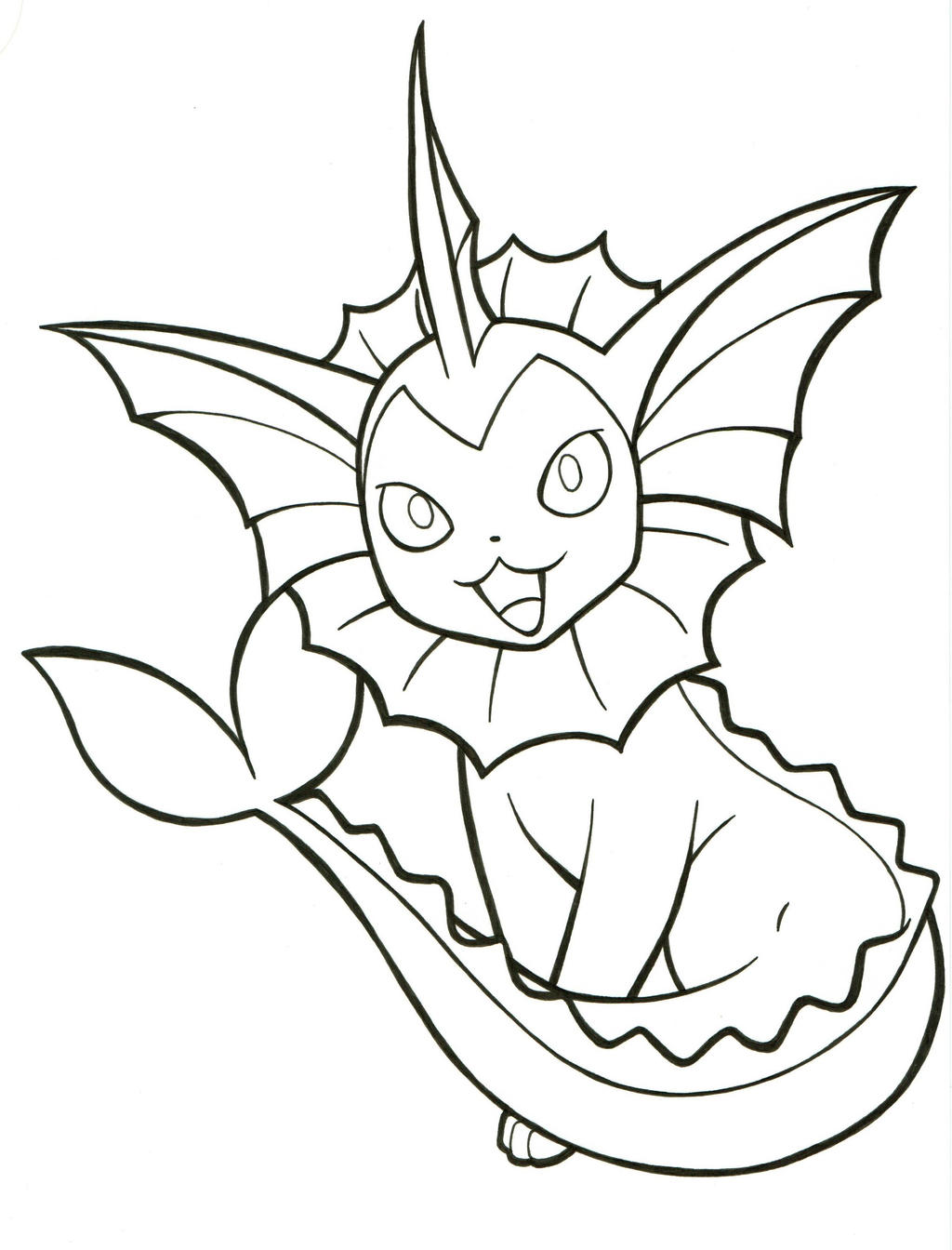eeveelutions vaporeon coloring pages - photo#15