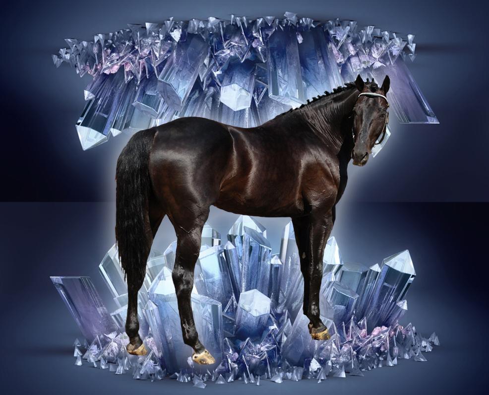 Crystal Horse by ArticWolfSpirit