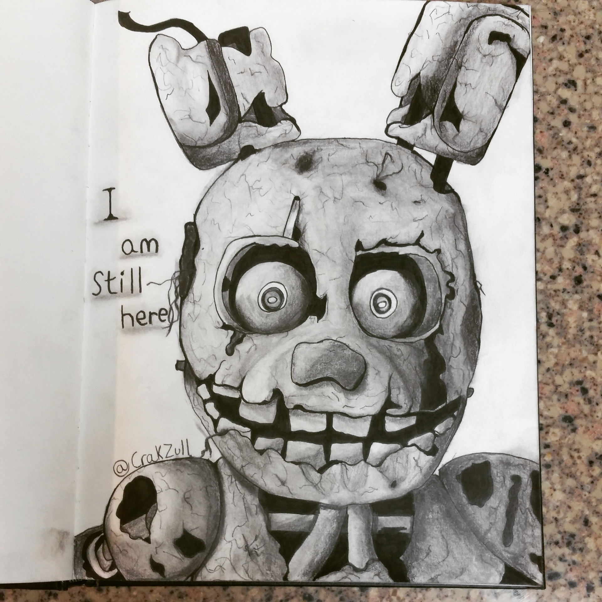 Five nights at freddys 3 animatronic sketch by artofgames on
