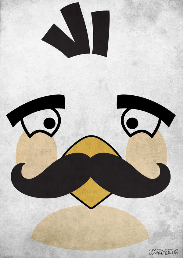 Angry Moustache Birds by turunchuQ