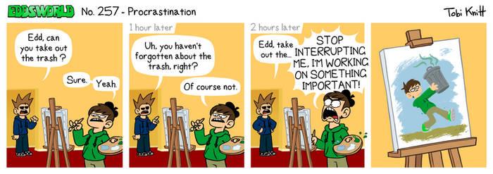 EWCOMIC No. 257 - Procrastination by eddsworld