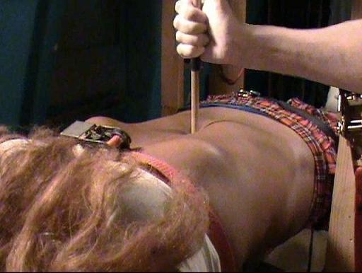 girl nude knife belly