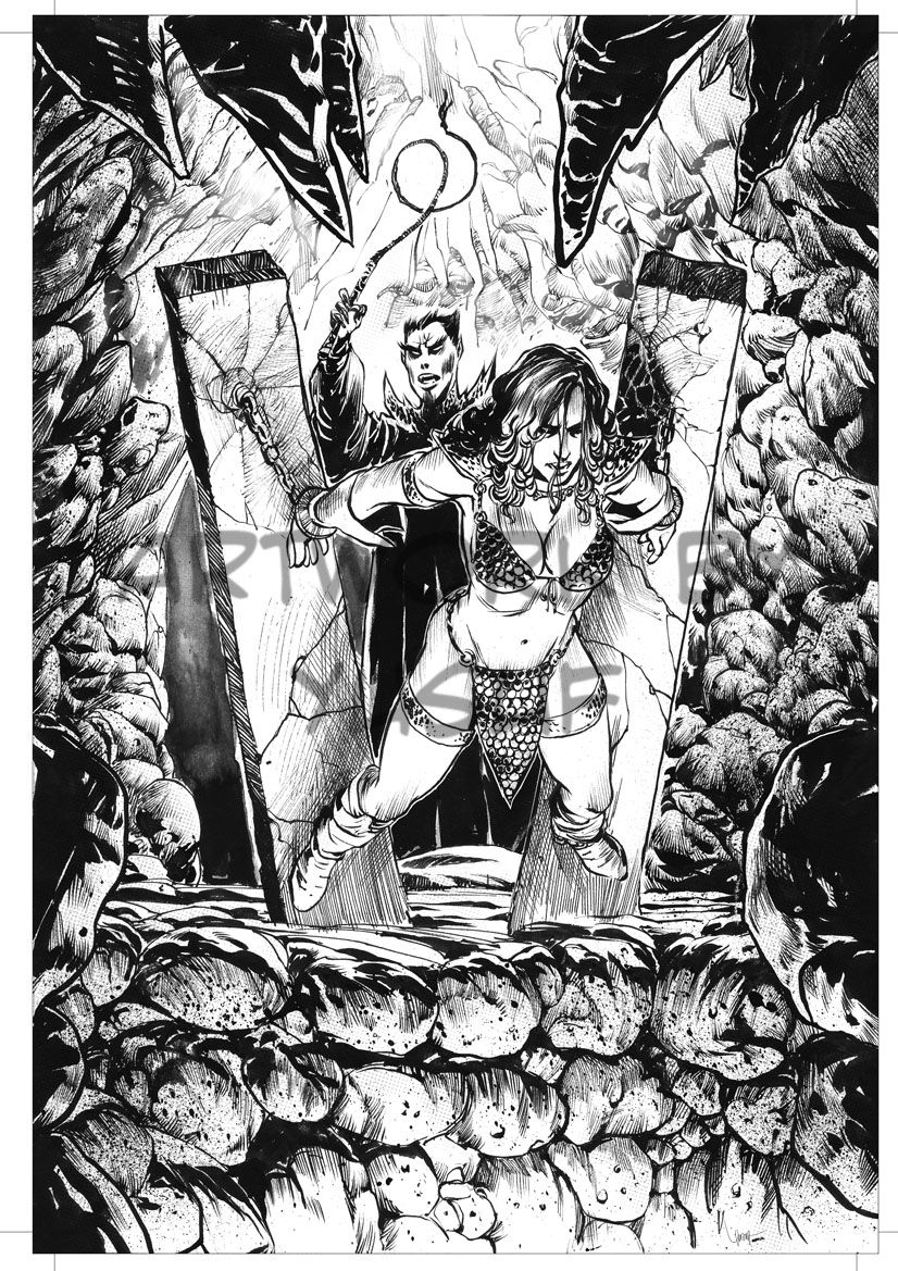 Red Sonja COVER test page by Kofee77