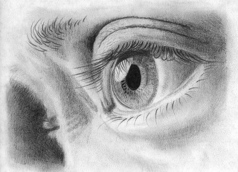 Self portrait eye by JoannaOlsen