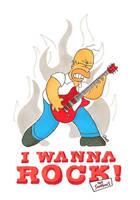 Homer the Rocker by MetalCams
