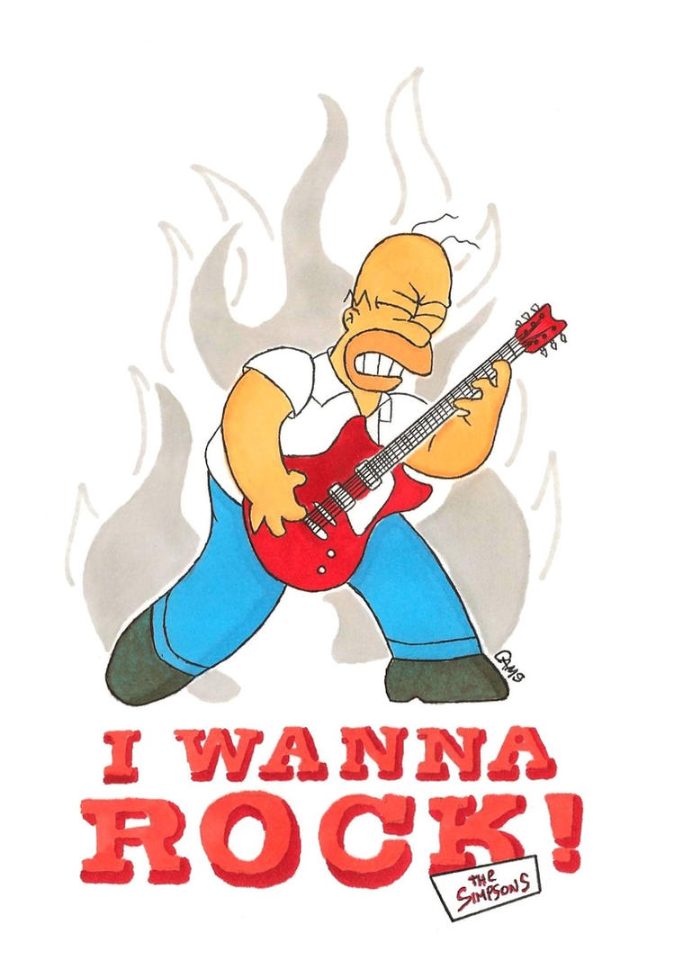 Homer the Rocker by MetalCams