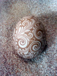 Hand Carved Chicken Egg 2014-1