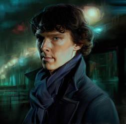 Sherlock. Benedict Cumberbatch by Olga-Tereshenko