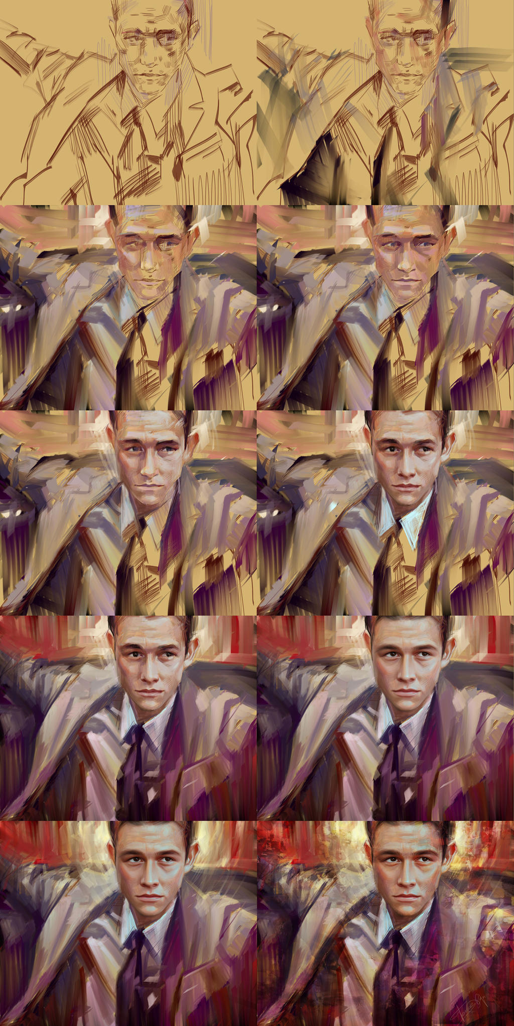Joseph Gordon-Levitt Process by Olga-Tereshenko