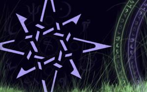 Runes and Grass by MyrddinDerwydd