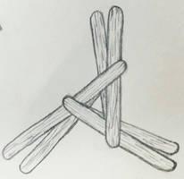 Triangle symbols: Brighid's Cross by MyrddinDerwydd