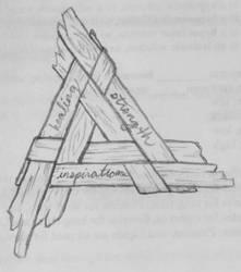 Worn, wooden Brighid's Cross by MyrddinDerwydd