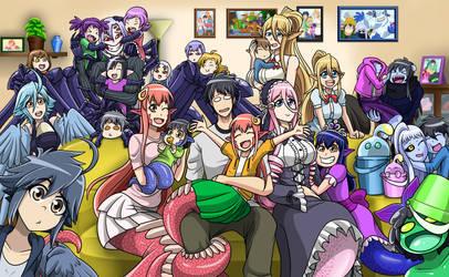 Monster Family by xXJimJamXx