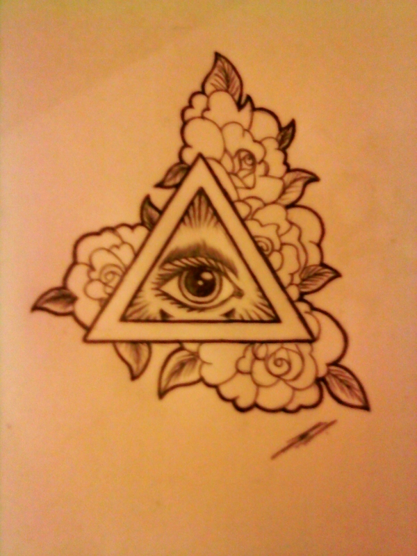 Illuminati Triangle Eye Drawing Illuminati Eye by Shad...