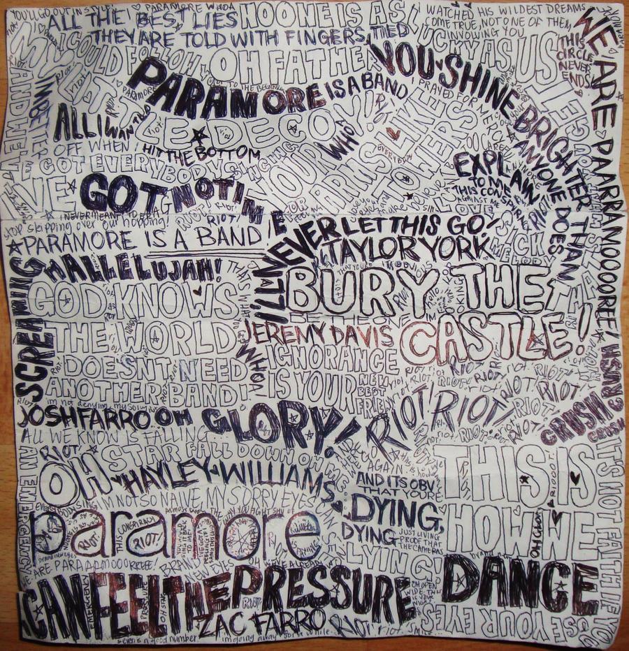 Paramore Lyrics Collage by ch-love on DeviantArt