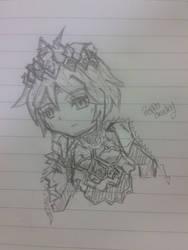 [Blood Brother] Gilgamesh Chibi Sketch =____= by MrPeppoCracky
