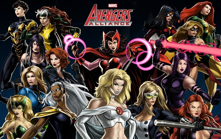 Marvel Ladies pinup 2 by AdrianaMelo on DeviantArt