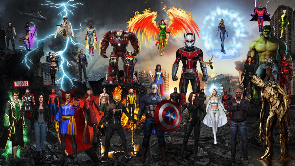 Marvel  Heroes by icequeen654123