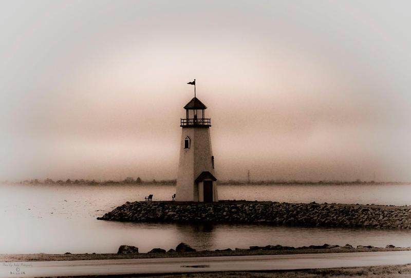 Lake Hefner Lighthouse by jetsetaphrodite