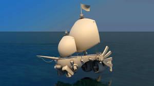 Steampunk Frigate