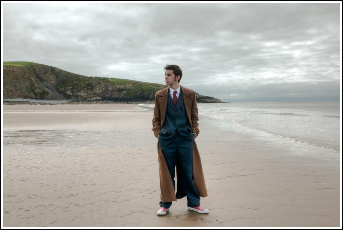 The Doctor at Bad Wolf Bay 2 by The-Rover