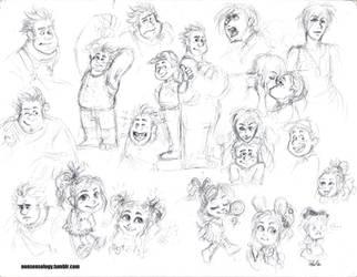 Wreck-It Ralph fan-doodles by nonsensology