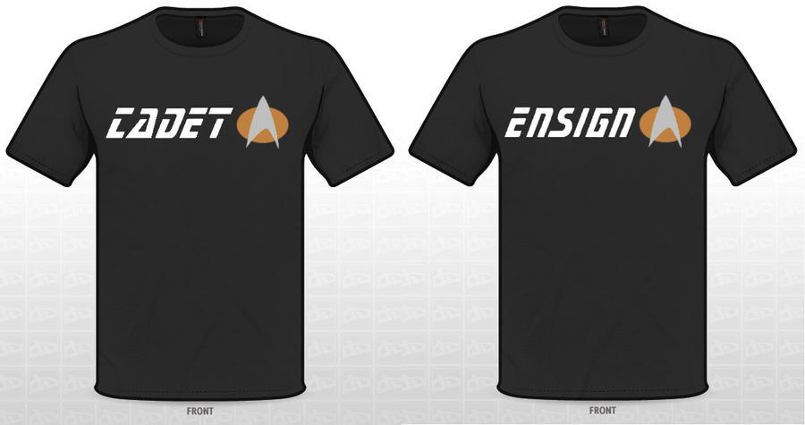 Star Trek Cadet and Ensign Shirts