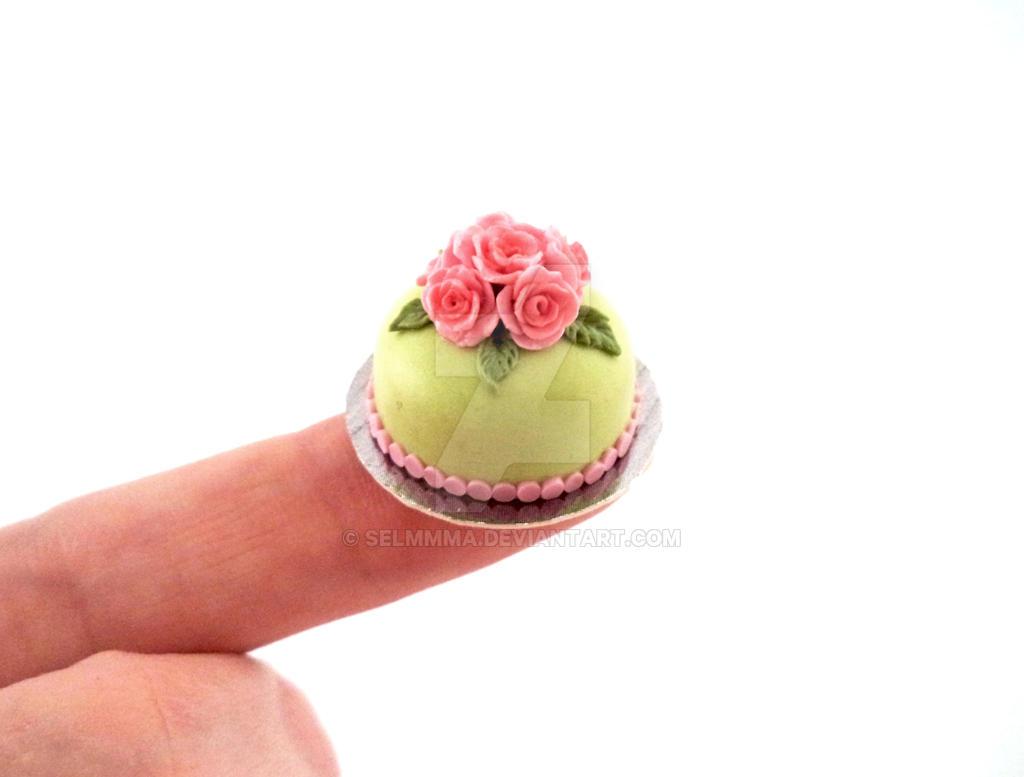 Pastel Green Cake by Selmmma