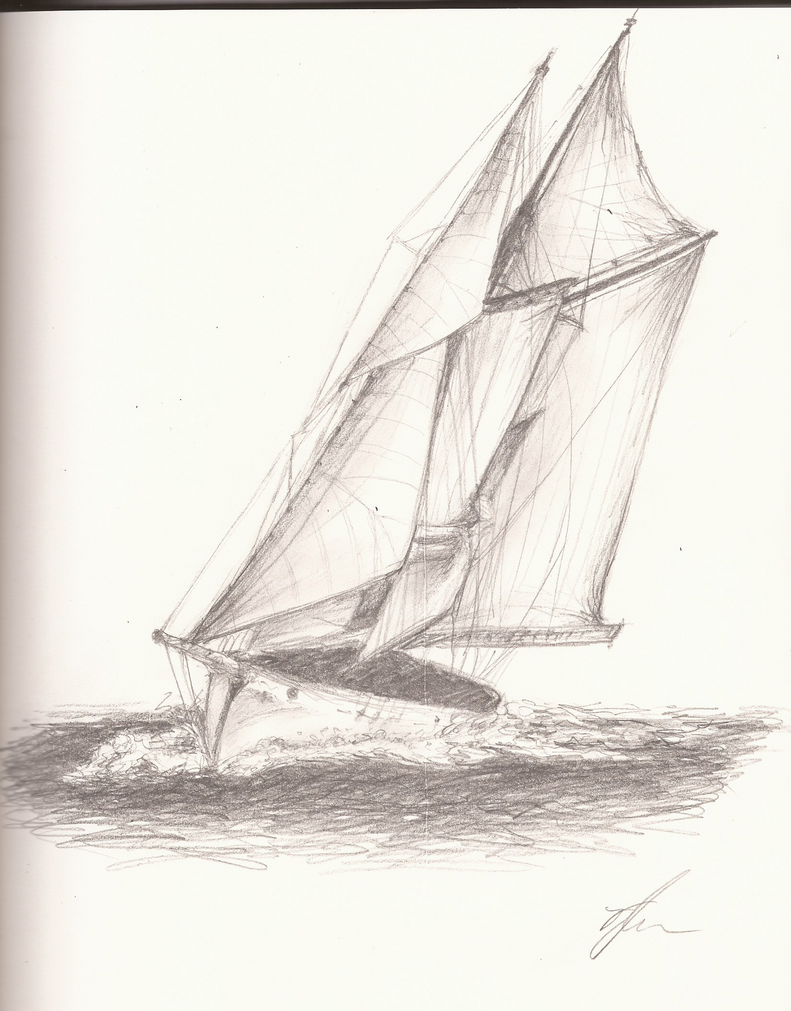 Sailboat Sketch by SonicBornAgain on DeviantArt